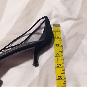 Sergio Rossi Shoes - Sergio Rossi black n gray pointed toe kitten heel
